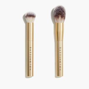Battington   NIB Gold Powder & Contour Brush Set